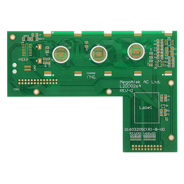 Double-sided immersion gold communication board
