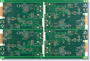 Six-layer gold finger + sink gold power board