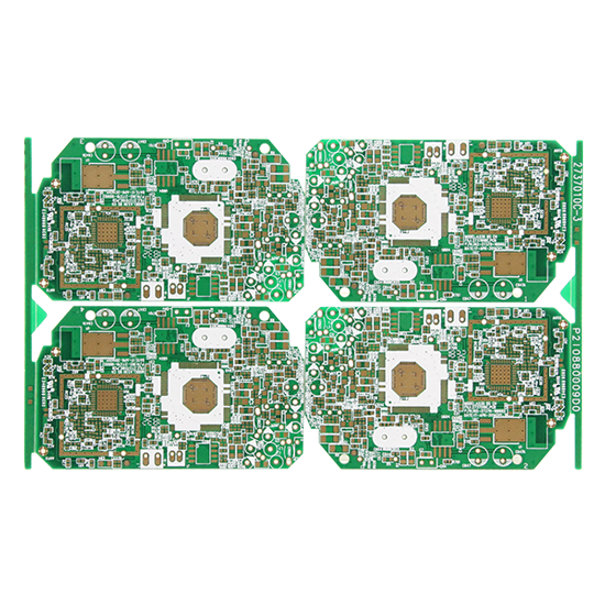 Double-sided immersion gold communication products